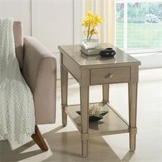 """Parkdale Chairside Table I Riverside Furniture 16.00""""W X 26.00""""D X 24.00""""H"""