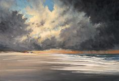 Storm Over Altantic Beach - 24x36   Oil Paintings by Kerri Settle