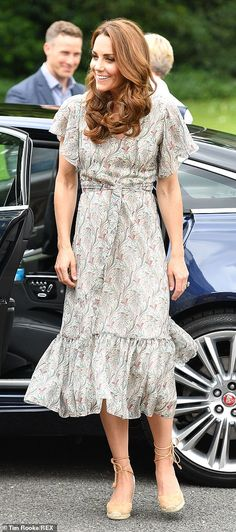 Kate was all smiles as she arrived for the event in south west London... #katemiddleton