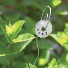 Learn how to make plant tags with a contemporary flair. These metal-stamped plant tags are easy to make for your garden! Garden Crafts, Garden Art, Garden Plant Markers, Homemade Modern, Garden Bugs, Plant Labels, Mother Earth News, Variety Of Fruits, My Flower