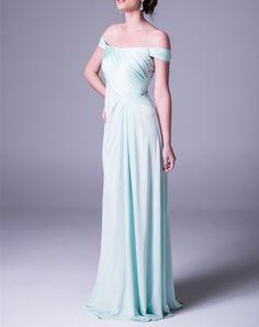 2016 Off The Shoulder Light Blue Prom Dress,Open Back Prom Dress,Chiffon Prom Dress,Long Prom Dress