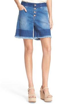 See by Chloé Stone Denim Shorts available at #Nordstrom