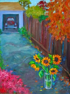 Patricia Musgrave – Mystery Sunflowers  http://patriciamusgraveapaintingblog.blogspot.com/