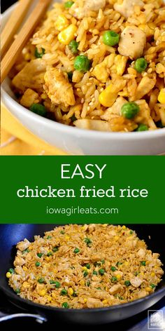 Easy Chicken Fried Rice Easy Chicken Fried Rice is a cinch to make at home with a few kitchen staples. This simple, 20 minute dish tastes just like take out! Easy Rice Recipes, Easy Chicken Dinner Recipes, Asian Recipes, Easy Meals, Recipes Dinner, Fried Chicken, Chicken Fried Rice Recipe Easy, Food Dishes, Cooking Recipes