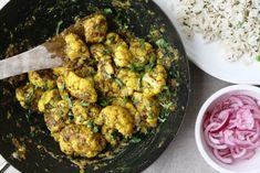 Lucknowi Achari Gobi - Cauliflower cooked in pickling spices with turmeric, chilli and mango powder - Maunika Gowardhan