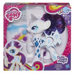 "My Little Pony Cutie Mark Magic Glamour Glow Rarity Figure - Hasbro - Toys ""R"" Us My Little Pony Dolls, All My Little Pony, Hasbro My Little Pony, My Little Pony Friendship, My Little Pony Merchandise, Barbie Accessories, Lol Dolls, Kids Store, Toys R Us"