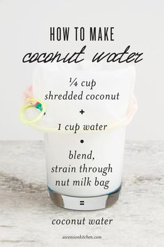 How To Make Coconut Water