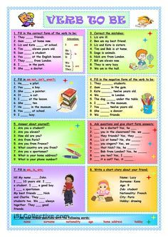 Verb To Be - worksheet - kindergarten level