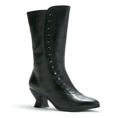 Tavistock Victorian Button Boots (Black). Not a match for Missy's, but nonetheless gorgeous.