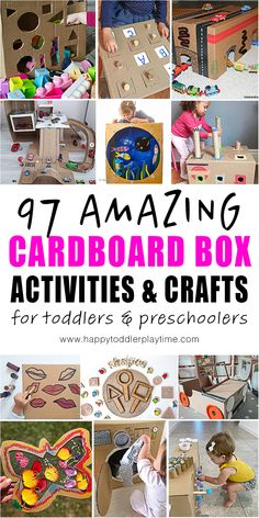 97 Cardboard Box Activities  Crafts for Kids - HAPPY TODDLER PLAYTIME