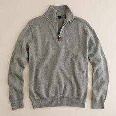 Cotton-cashmere half-zip sweater - J. Crew