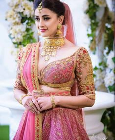 F you're wondering about the latest lehenga blouse designs, you've reached the right spot. A designer lehenga blouse can make your look fresh from fashion Choli Designs, Bridal Blouse Designs, Lehenga Designs, Saree Blouse Designs, Lehenga Blouse, Sari, Lehenga Choli, Silk Sarees, Bridal Looks