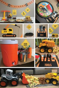 Construction Birthday Party Ideas | Construction Theme Food & Menu Ideas | by Posted Fete #constructionbirthday #constructiontheme #boysbirthday