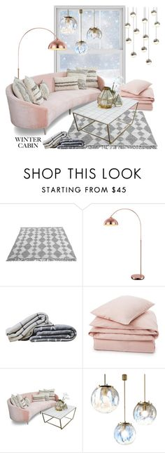 """""""rose gold"""" by chiarettadesign ❤ liked on Polyvore featuring interior, interiors, interior design, home, home decor, interior decorating, Lexington, Sonneman, cabinstyle and wintercabin"""