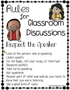 Rules for Classroom Discussions