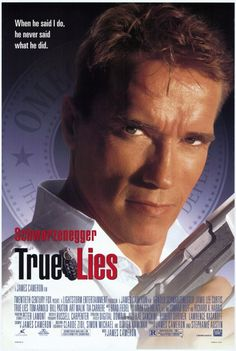 True Lies, directed by James Cameron with Arnold Schwarzenegger and Jamie Lee Curtis. Film D'action, Bon Film, Hd Movies, Movies And Tv Shows, Movies Online, Plane Movies, Movies Free, Indie Movies, Comedy Movies