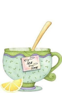 tea time with lemon Tea Cup Art, My Cup Of Tea, Tea Cups, Tee Illustration, Tee Kunst, Tea Quotes, Cuppa Tea, Teapots And Cups, Decoupage Paper