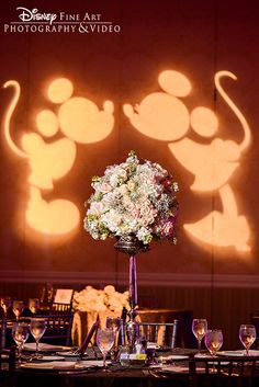 Mickey and Minnie Mouse made the cutest appearance ever at this Walt Disney World wedding reception