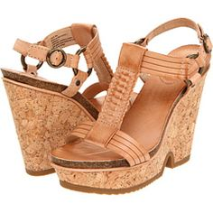 Good quality, nude, wedge heels. They go with everything.