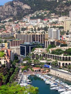 Photo of Fontvielle, the marina, and Monaco . The Palace is located to right of photo ( not visible ) on le Rocher. This is a view we donot often see of Monaco. Another charming look at the Principality.    //  photo credit Derya, trekearth.com