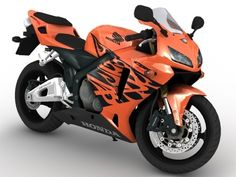 2005-2006 Honda CBR 600RR 3D Model by jamie3d this is the exact year model and paint I owned