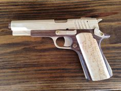 1911 Automatic Rubber Band Gun with working slide. - by Nick_R @ LumberJocks.com ~ woodworking community