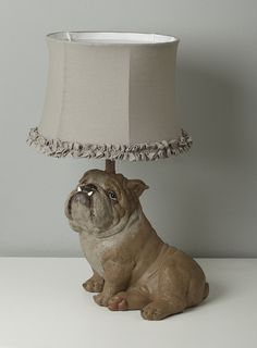Stained Glass Bulldog Accent Table Lamp Bull Dog traditional-table ...