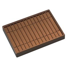 """14 bracelet tray.  This beautiful Copper coloured Leatherette tray holds up to 14 bracelets up to 1/2"""" wide and 10"""" long.  Note: instead of fixed channels, get a tray and run some of my stretchy cord over the front and back at one short end to make little loops one end of a bracelet clasp can go through. Then bracelet are displayed full length and are relatively easy to take out and put back."""