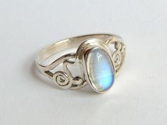 special one moonstone sterling silver ring,handmade jewel, dinner ring, order your size, unique design. by Majlagalery on Etsy Silver Jewelry, Silver Rings, Gemstone Rings, Etsy, Sterling Silver, Dinner, Unique, Design, Handmade