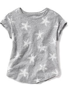 Printed Slub-Knit Tee for Girls