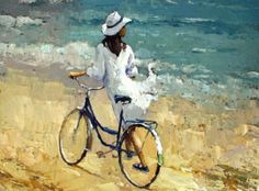 Alexi Zaitsev: The girl with the bicycle
