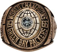 1966-67 Green Bay Packers Super Bowl I Championship Ring Presented to Jerry Kramer