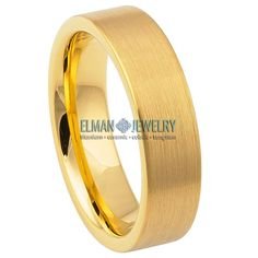 This Wedding Band Ring created from Cobalt Free Tungsten Carbide and made with Comfort Fit design. This ring is ideal as Contemporary Wedding Ring Band, Engagement Ring, Anniversary Band, Gift for His and Her or just for Everyday Wearing. It's a Brushed Yellow Gold IP Plated Pipe-Cut Tungsten Ring Band. The ring width is 6 mm.    Features:  - Scratch Resistant & Lifetime Guarantee  - Same business day Free Shipping  - Hypoallergenic & Bio-compatible     Item Details:  SKU# TR799EL  Style… Anniversary Bands, Tungsten Carbide, Wedding Ring Bands, Cobalt, Engagement Rings, Free Shipping, Contemporary, Yellow, Business