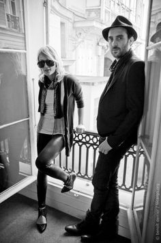 Emily Haines and James Shaw doing what they do best...being rockstars.