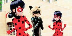 """Chat Noir: """"Two ladybugs? I'm in heaven!"""" Ladybug: """" -_-"""""""