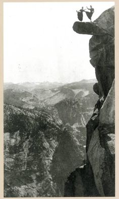 Dancing ladies on overhanging rock, 1890s by George Fiske,         thank you forgottenway    (via miamou)