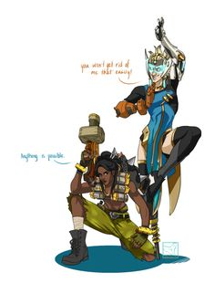 Overwatch Outfit-Swap: Junkrat and Symmetra [Submission by: Anon] Symmetra is the coolest. Like, I love playing her, I love looking at her, I love drawing her, and I think that she could rock just about any outfit. And, Junkrat seems to be having a...