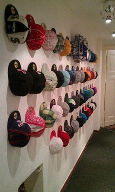 A custom-made cap wall from New Era fan Steven S.