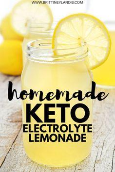 Homemade keto electrolyte lemonade Fight the keto flu with this delicious lemonade How to make keto lemonade The best keto drink Keto recipe for beginners keto ketoflu Low Carb Meal, Keto Meal Plan, Diet Meal Plans, Meal Prep, Diet Ketogenik, Diet Food List, Diet Menu, Diet Foods, Aip Diet