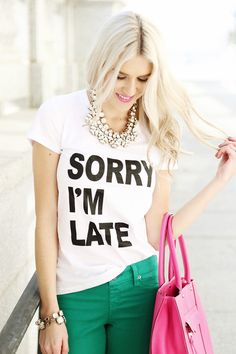 I want this shirt, even though I'm getting so much better with time .