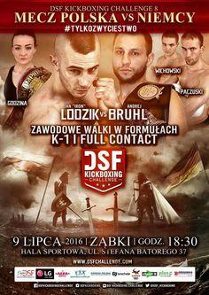 Official poster DSF KICKBOXING CHALLENGE 8 (9.07.2016, ZĄBKI)