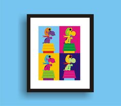 Snoopy the Red Baron  Pop Art Original Print by by PopGozTheEasel