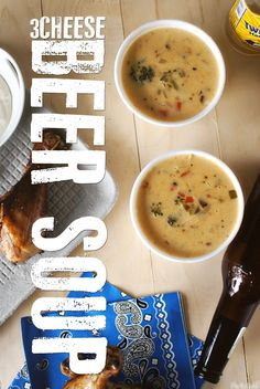 Three-Cheese Beer Soup and other Game Day goodies from @Kita Roberts at Pass the Sushi