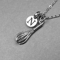 Monogram Whisk Necklace by chrysdesignsjewelry on Easy
