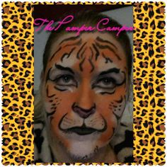 Tiger face painting.