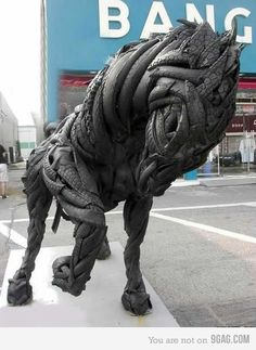 looks like a horse from the apocalypse or something