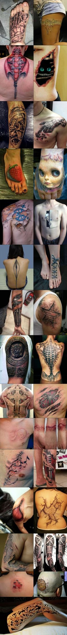 3D Tattoos... Holy shitballs!