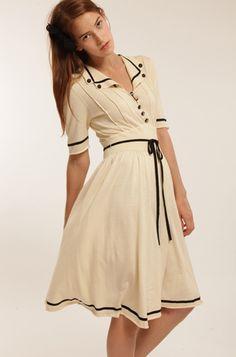 Tea Dress - Cream