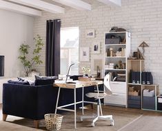 Ikea office room designs desk ideas desk ideas home office photo of well furniture fresh office . ikea office room designs home Ikea Desk, Ikea Dining, Mesa Home Office, Home Office Desks, Desks For Small Spaces, Small Rooms, Small Workspace, Small Apartments, Small Bedrooms