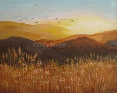 Sunrise Landscape by Della Burgus, painting by artist Art Helping Animals